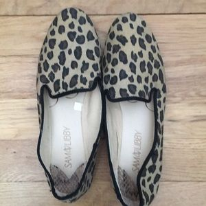 Sam & Libby Leopard Canvas Loafers